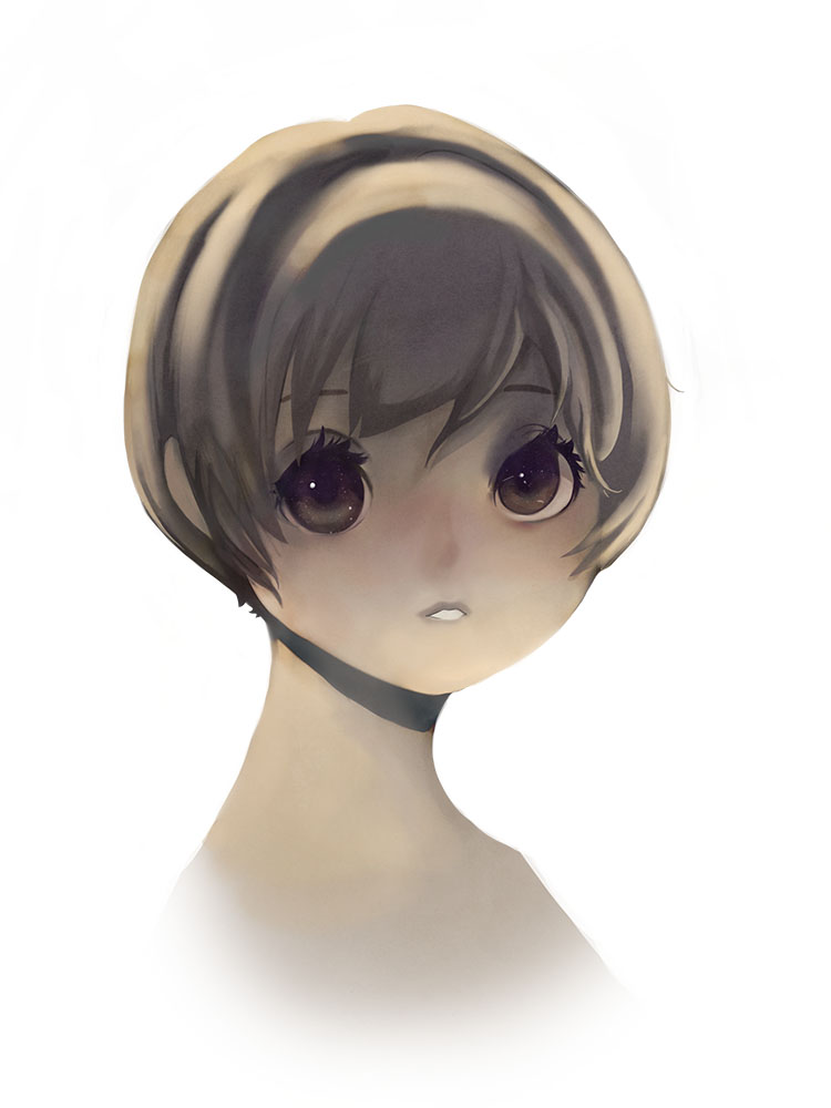 Galaxy eyes - anime girl