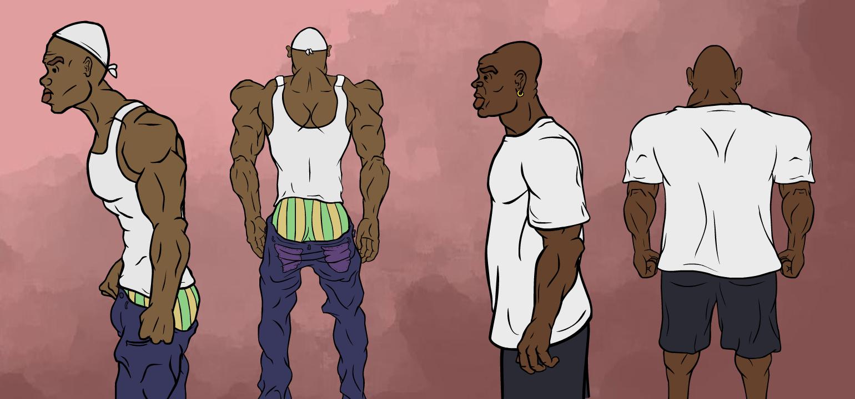 Black guys from movie