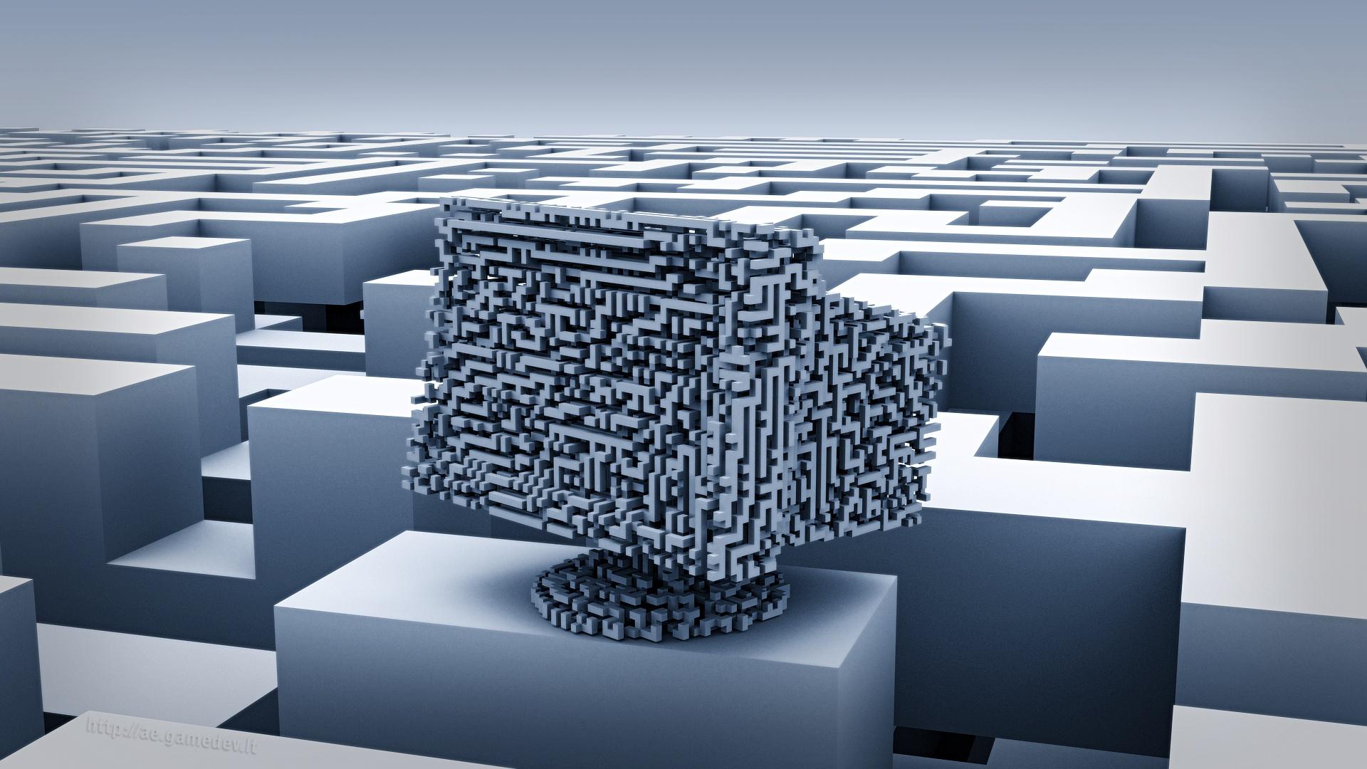 3D labyrinth - monitor