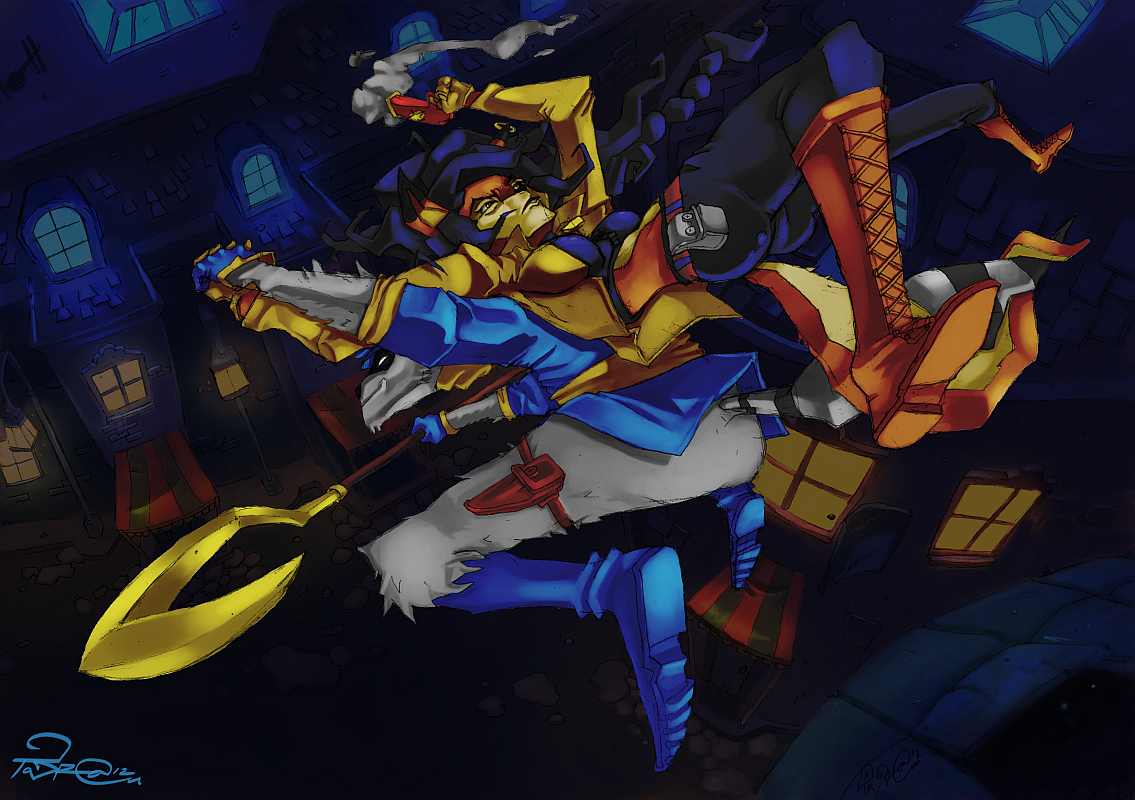 Sly Cooper and Carmelita Fox