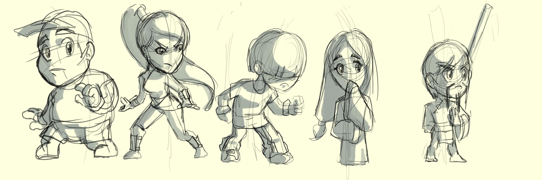 WAtN Character Sketch Lineup