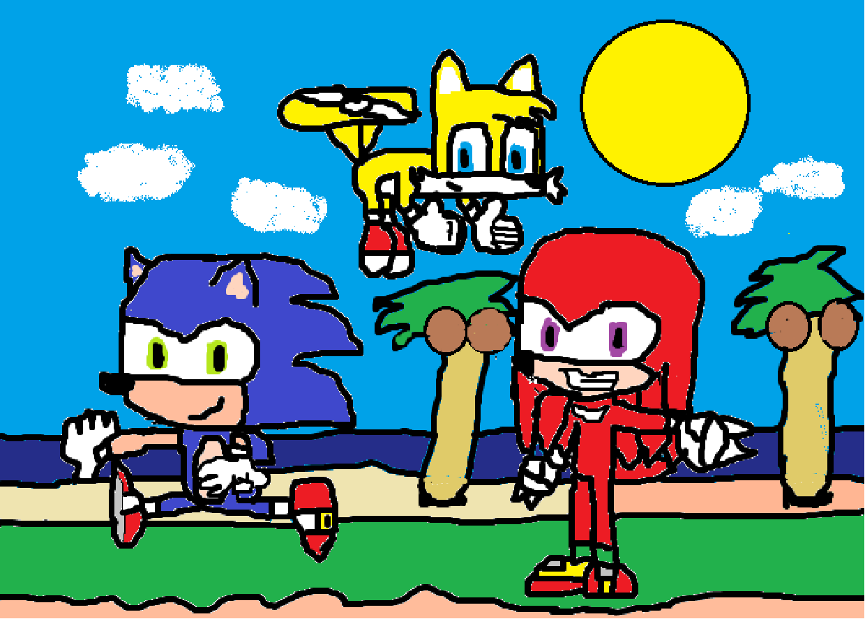 Sonic Heroes Drawn