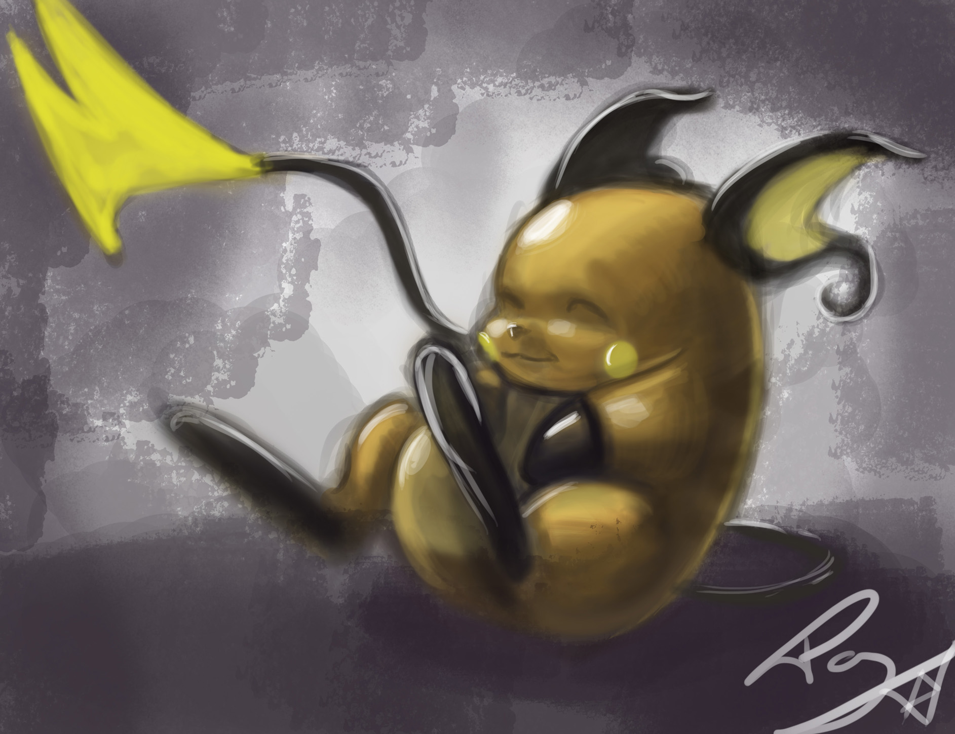 Raichu Speed painting