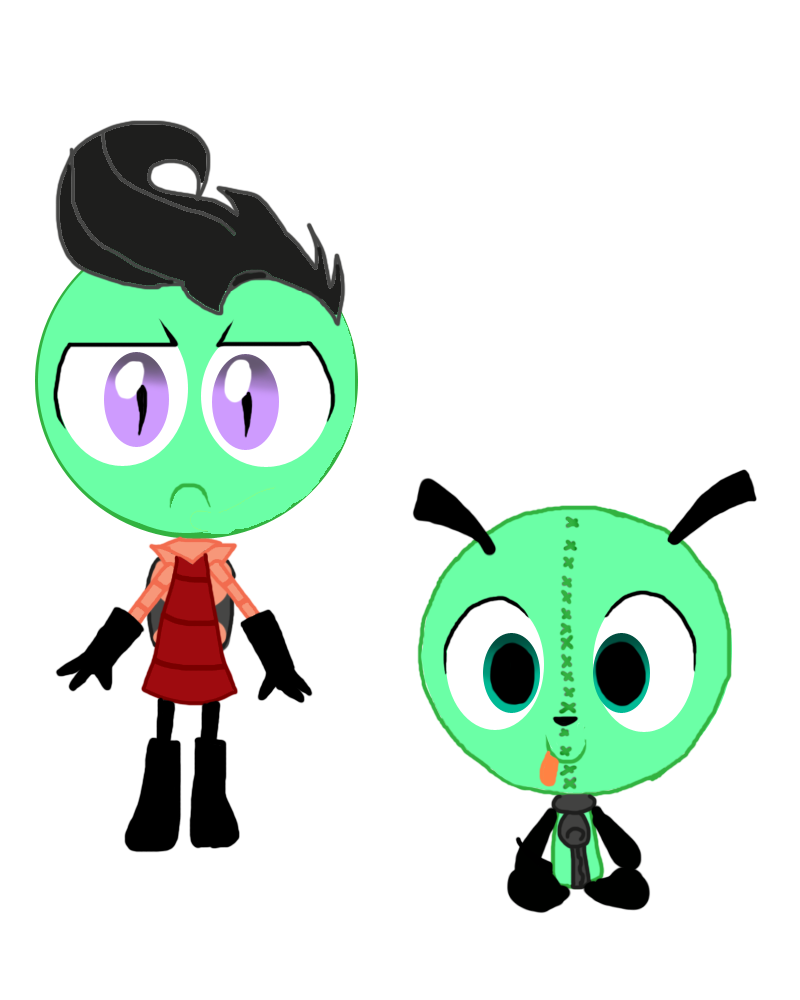 Zim And GIR In MLP:FiM Style