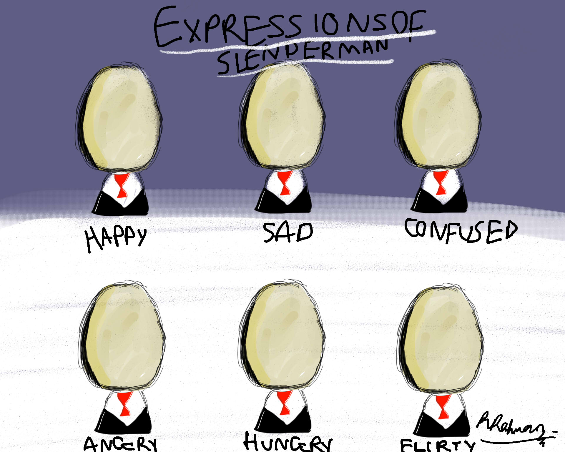 Expressions of Slenderman