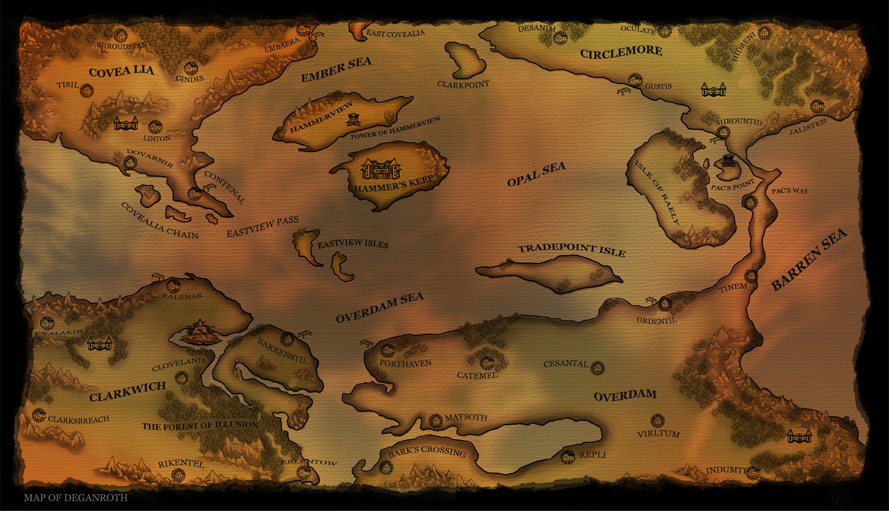 Deganroth World Map
