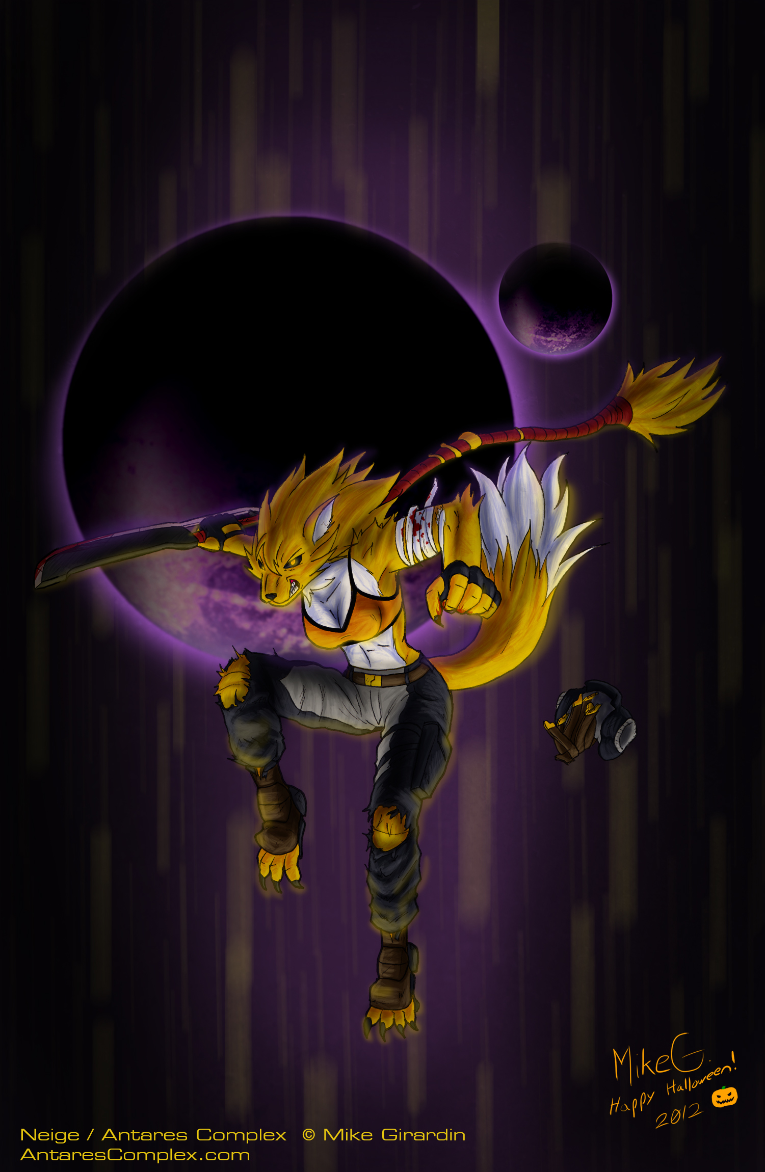 Happy Halloween Werewolf Neige