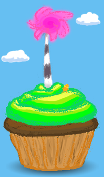 Truffula Tree Cupcake