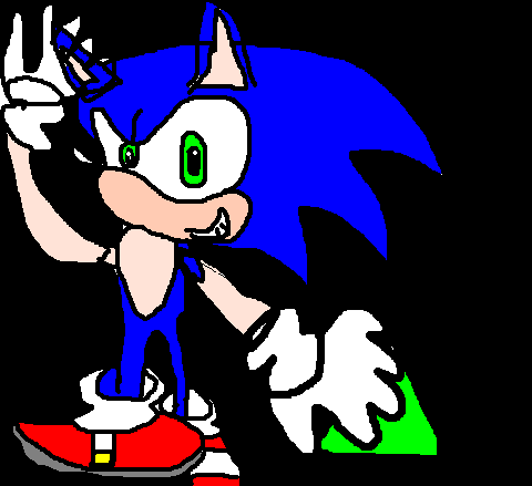 Early Drawing Of Sonic