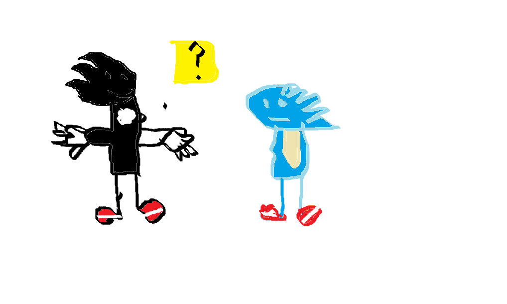 Sonic and Shadow in marioWorld