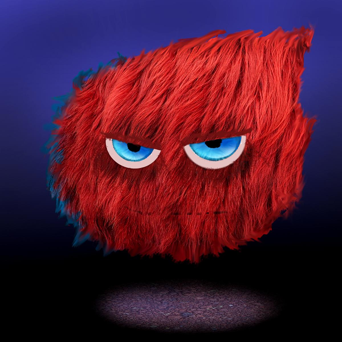 Red Fluff Ball