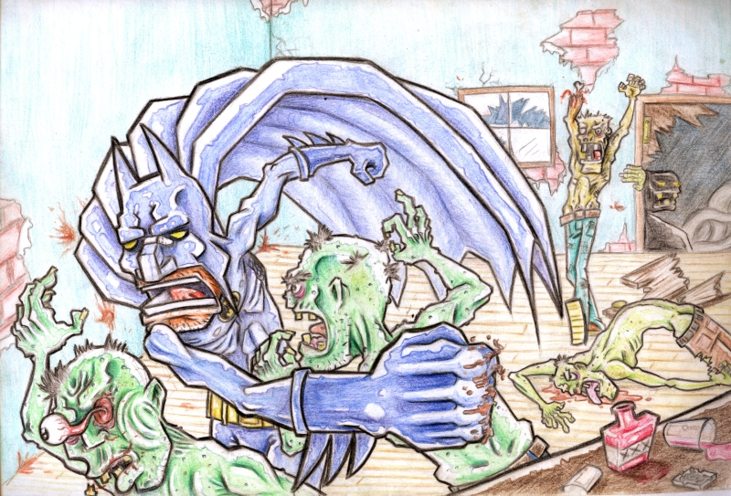 Batman vs Zombies