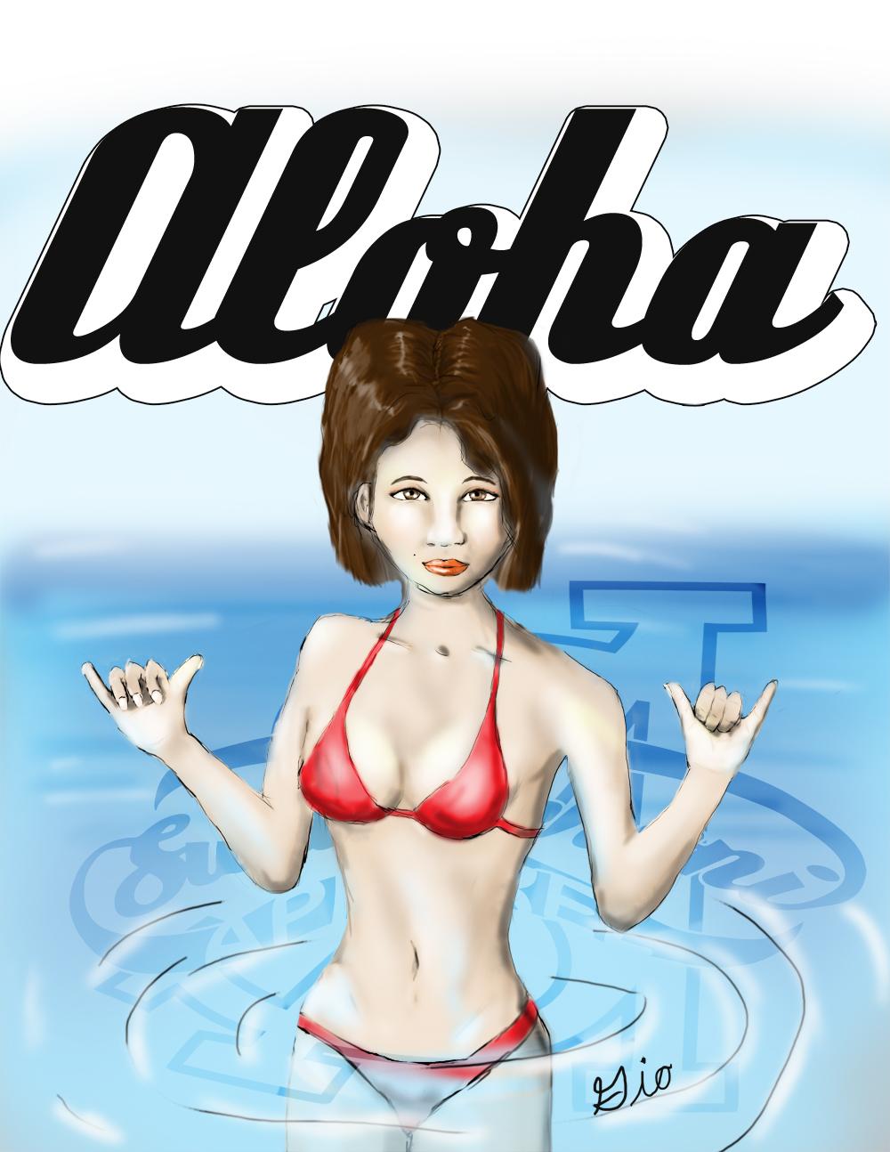Bikini Girl in a Pool