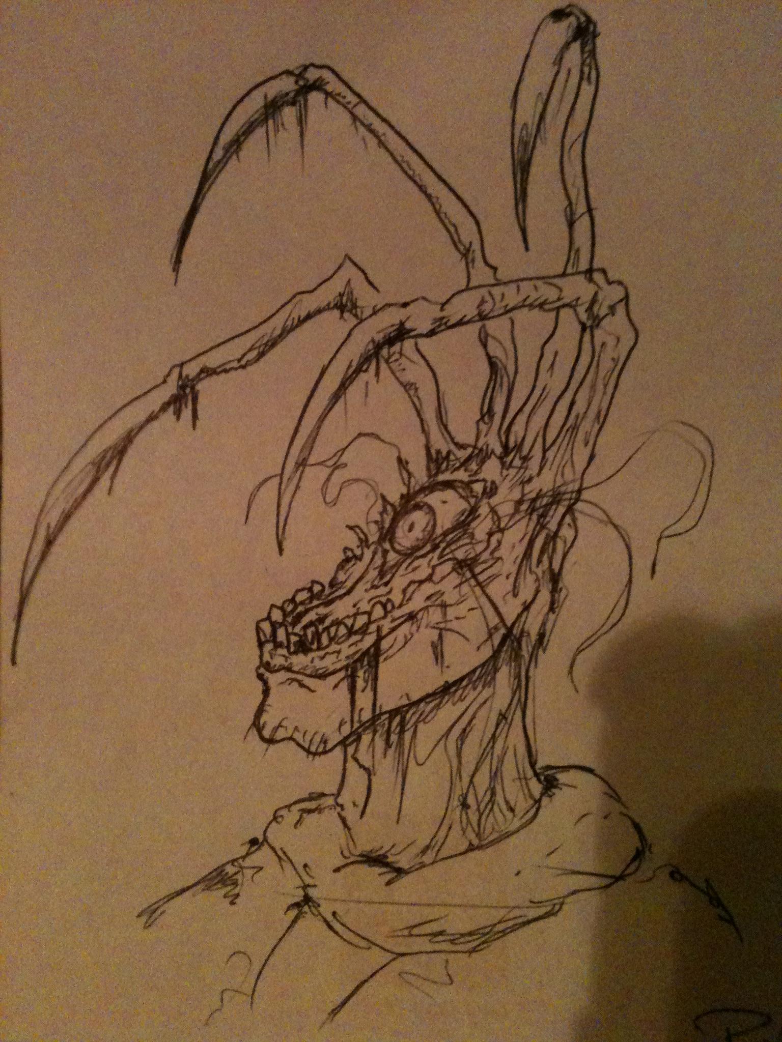 Strange Head Thing Sketch.