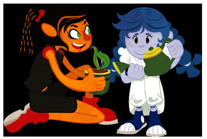 Tangerine n Bluberry