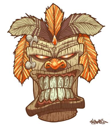Tiki God mask