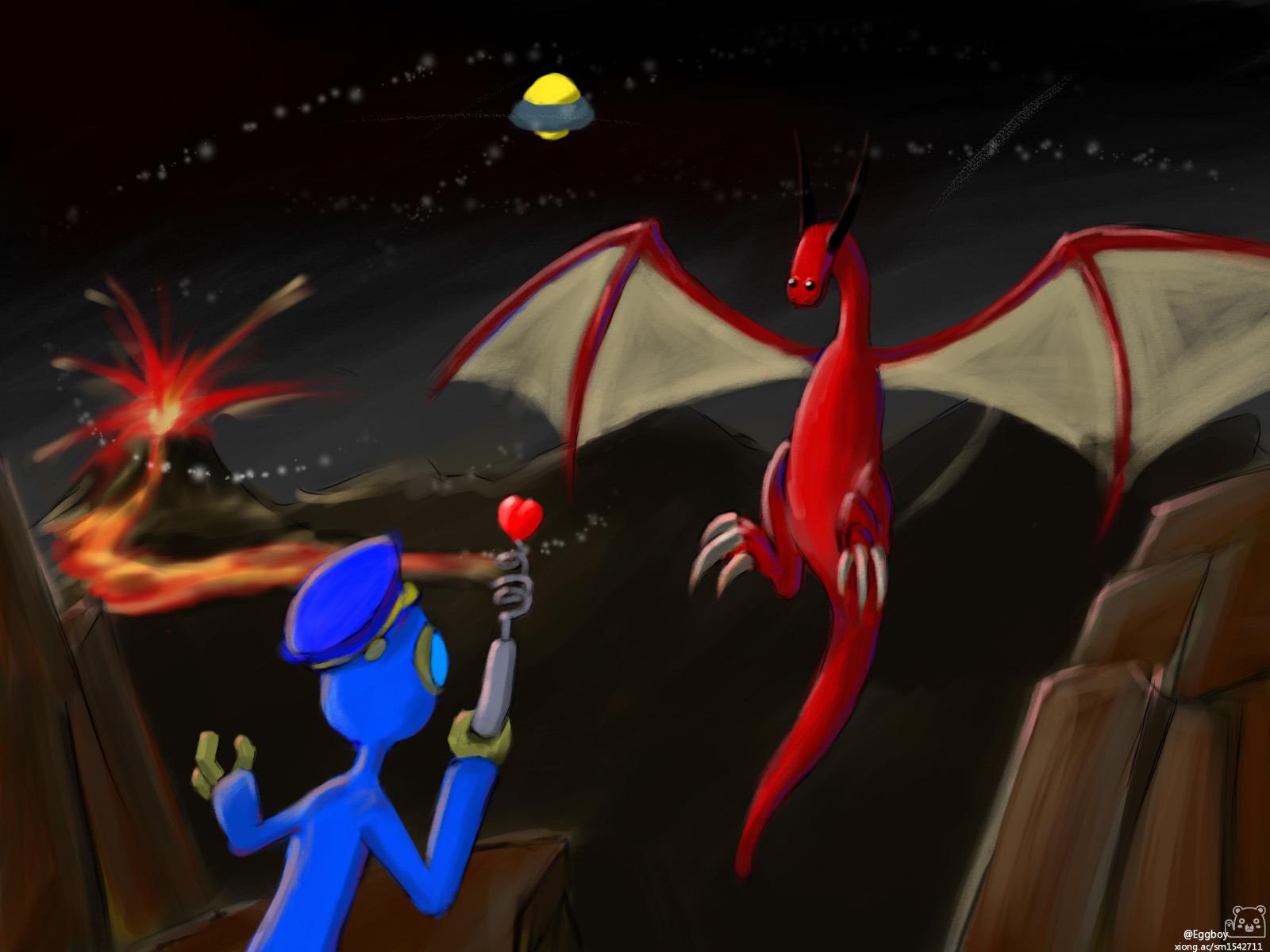 Eggboy and Dragon
