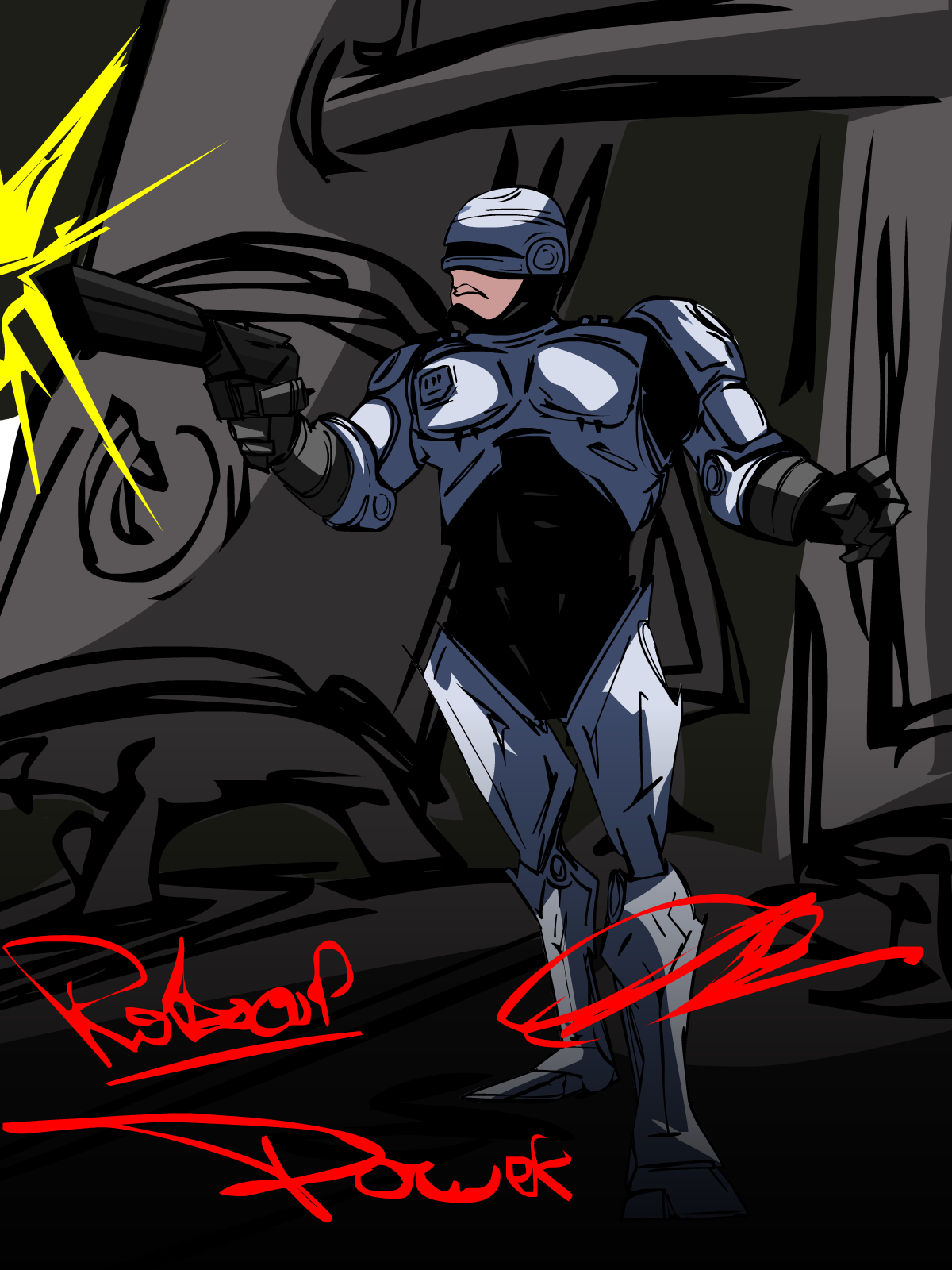 Alll that power ROBOCOP!!!