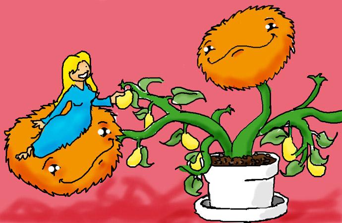fuzzy plant pet