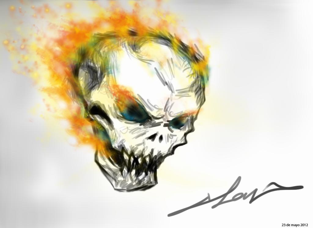 a generic flaming skull
