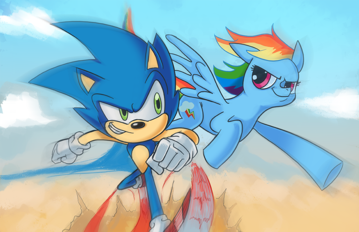 Sonic and RainbowDash