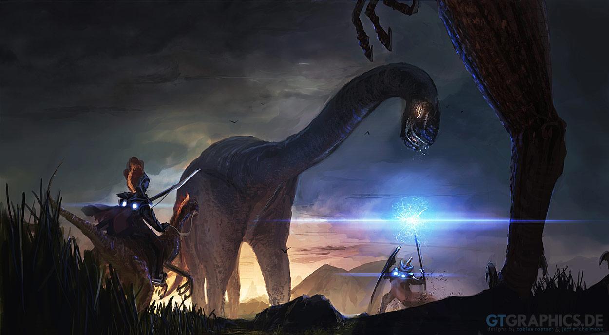 Der Blaue Adinosaurus