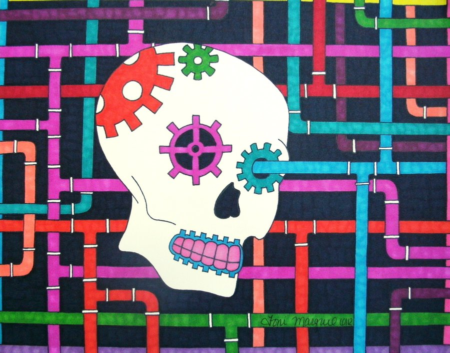 Pipes and Gears Skull