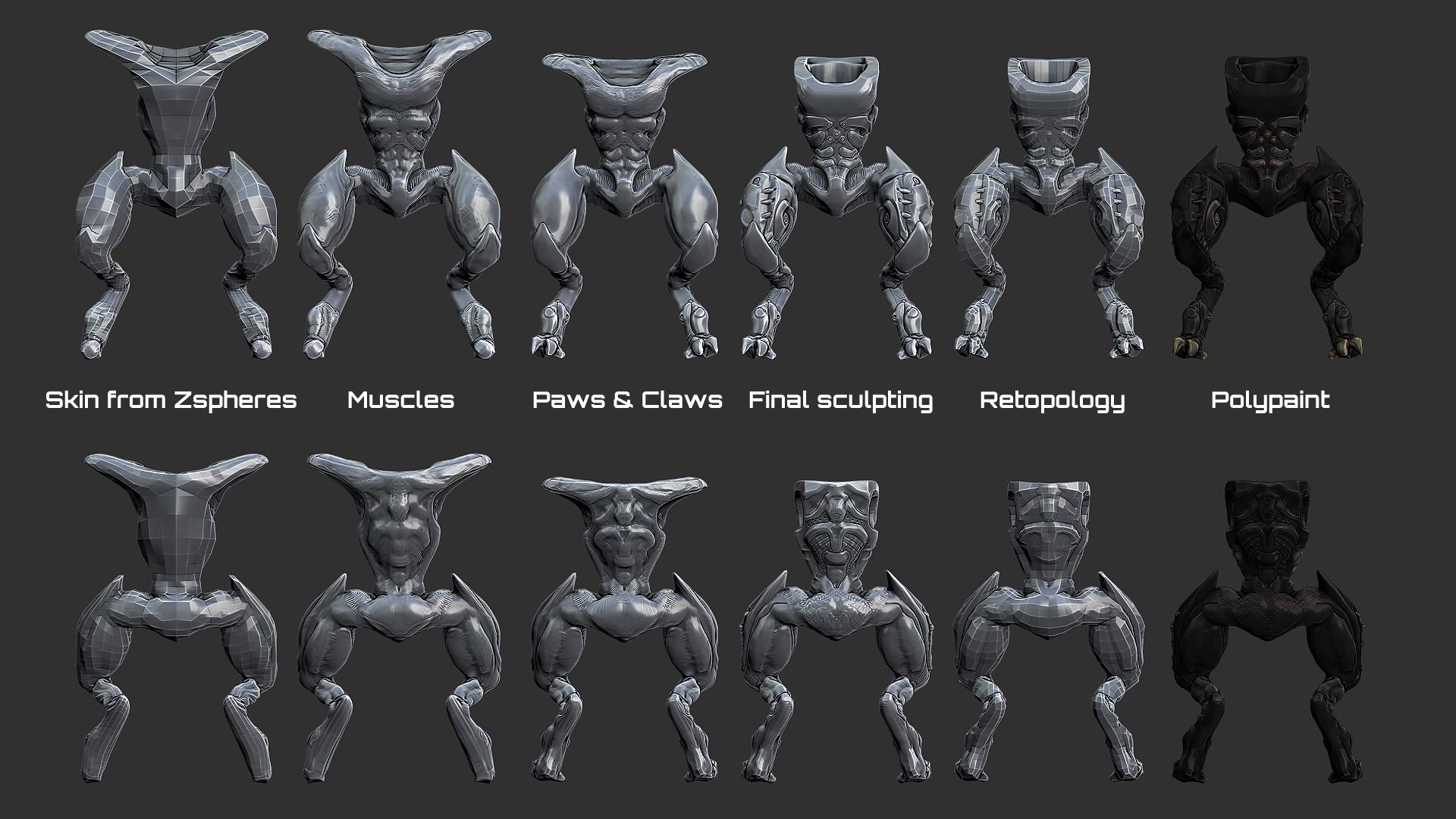 Sculpt stages