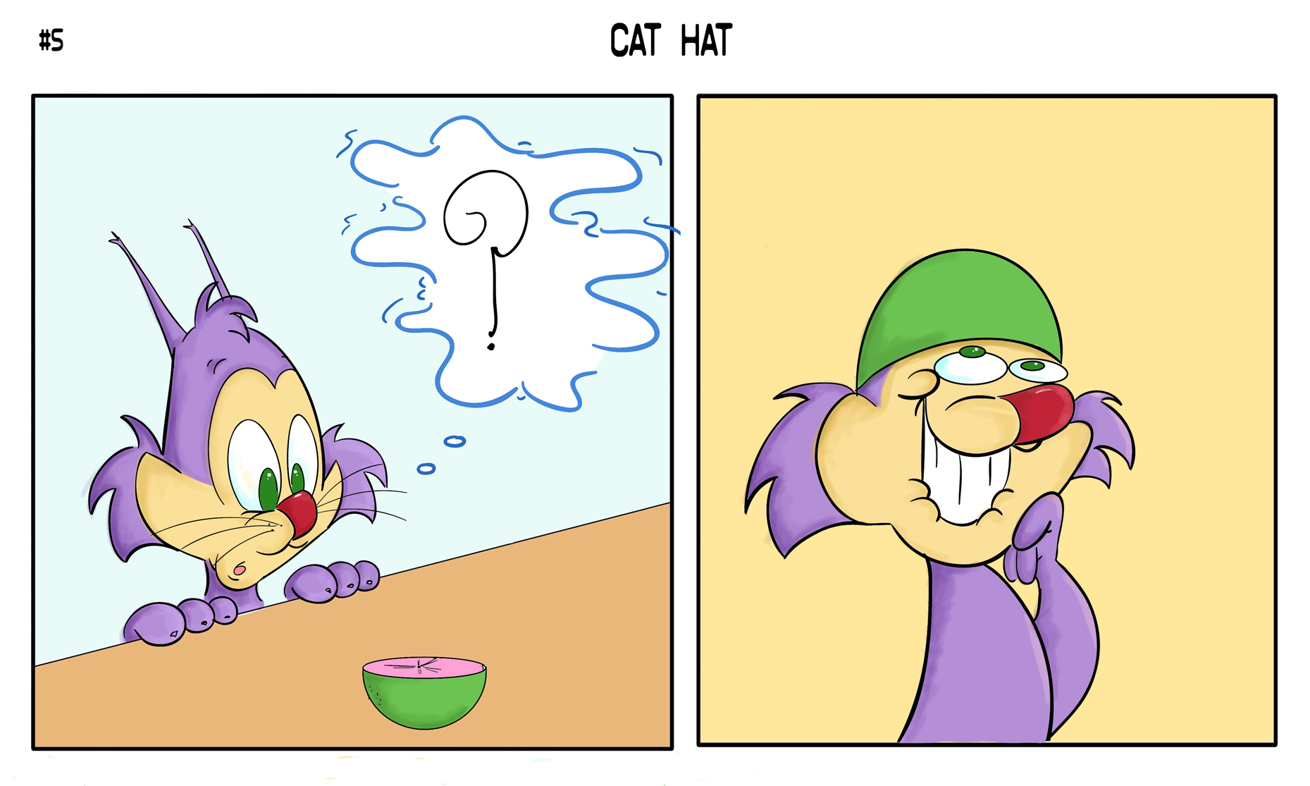 Pinball Comic 5- Cat Hat