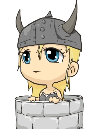 Chibi Viking woman