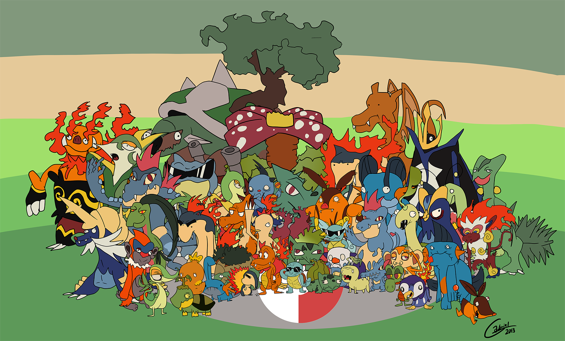 Pokemon Family portrait