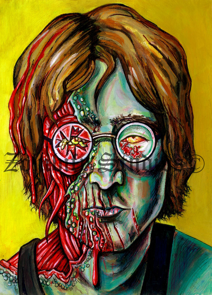 John Lennon Zombie Portait