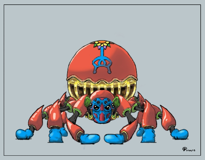 Gilded Carnival Spider