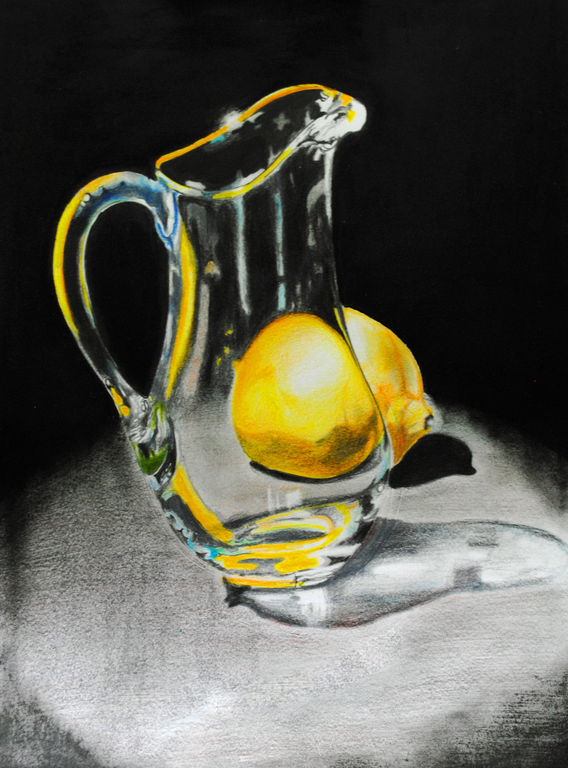 pencil color- glass