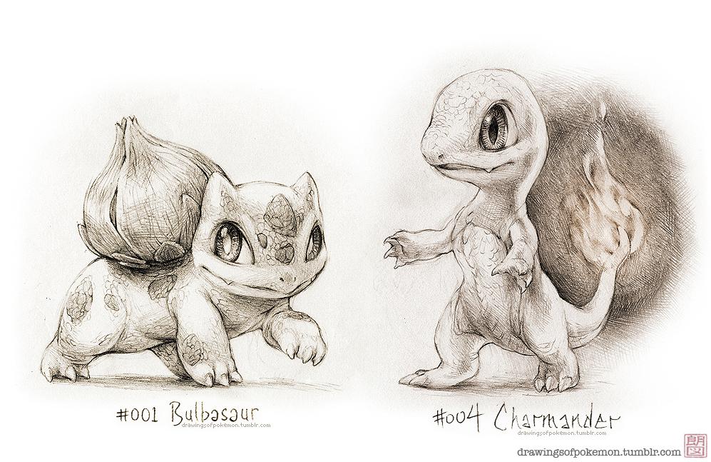 Bulbasaur and Charmander