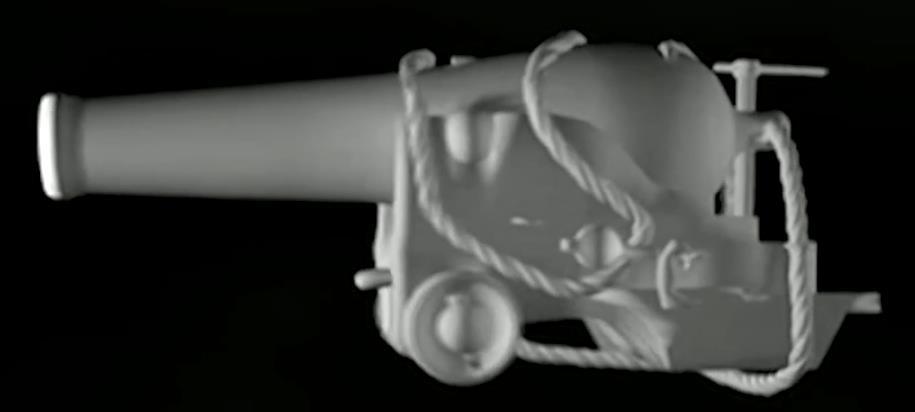 1800's Navy Battleship Cannon