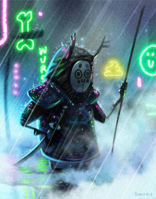 rainy samurai