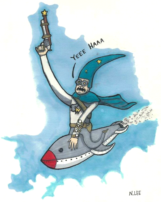 Steampunk Captain Wizard
