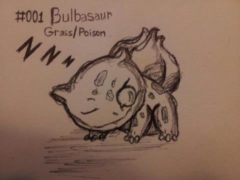 #001, Bulbasaur, Original Pose