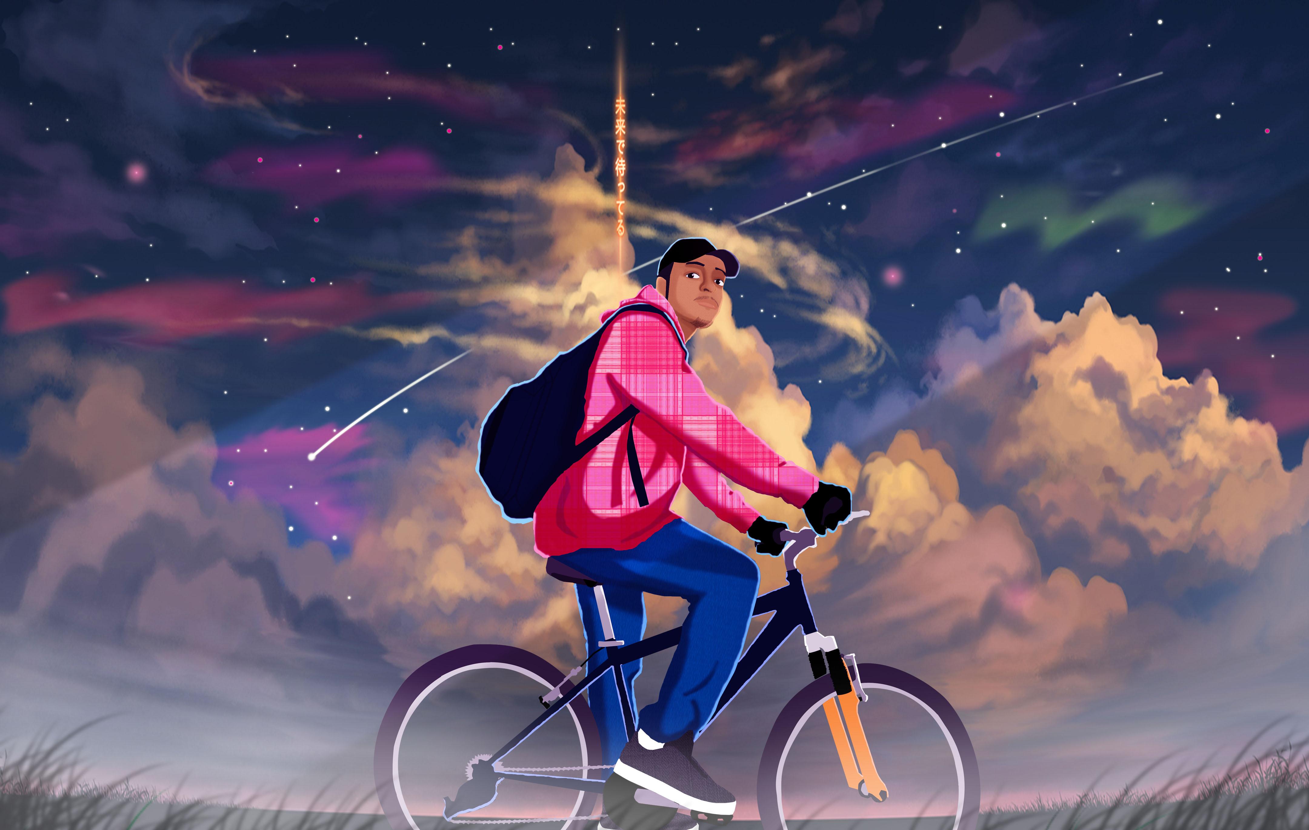 guy on a bike?