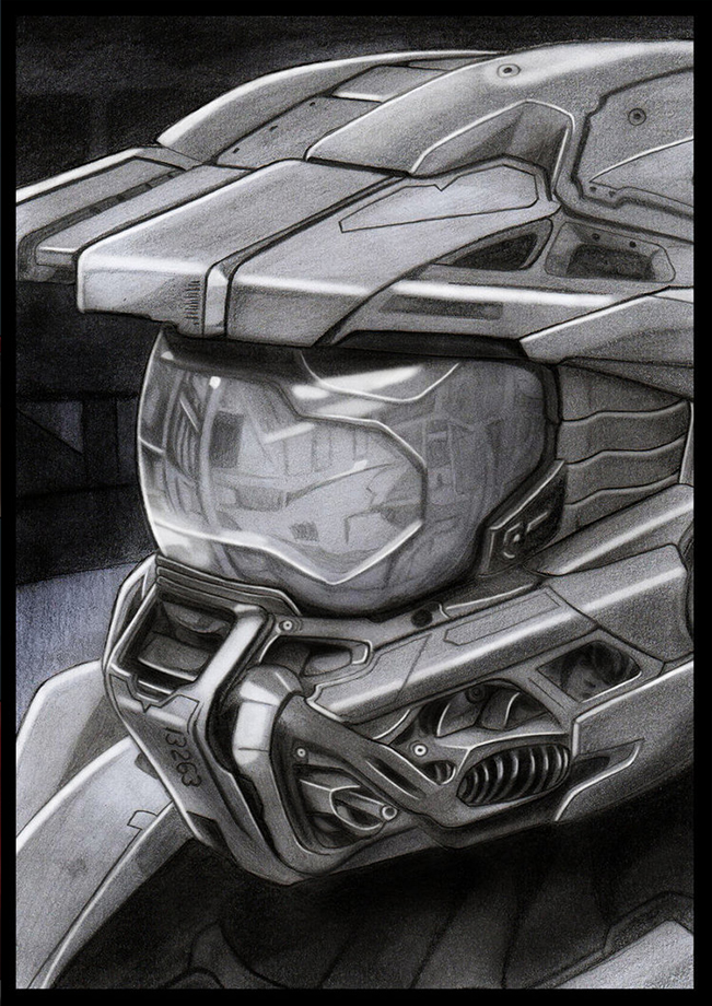 Master Chief Pencil Drawing