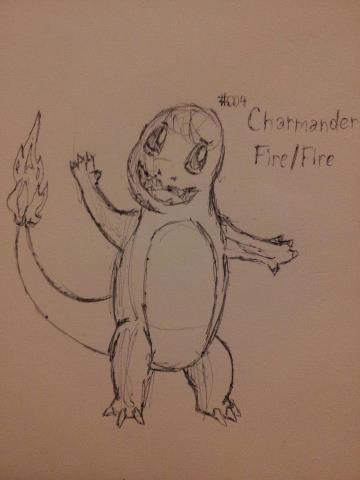 #004 Charmander Sketch