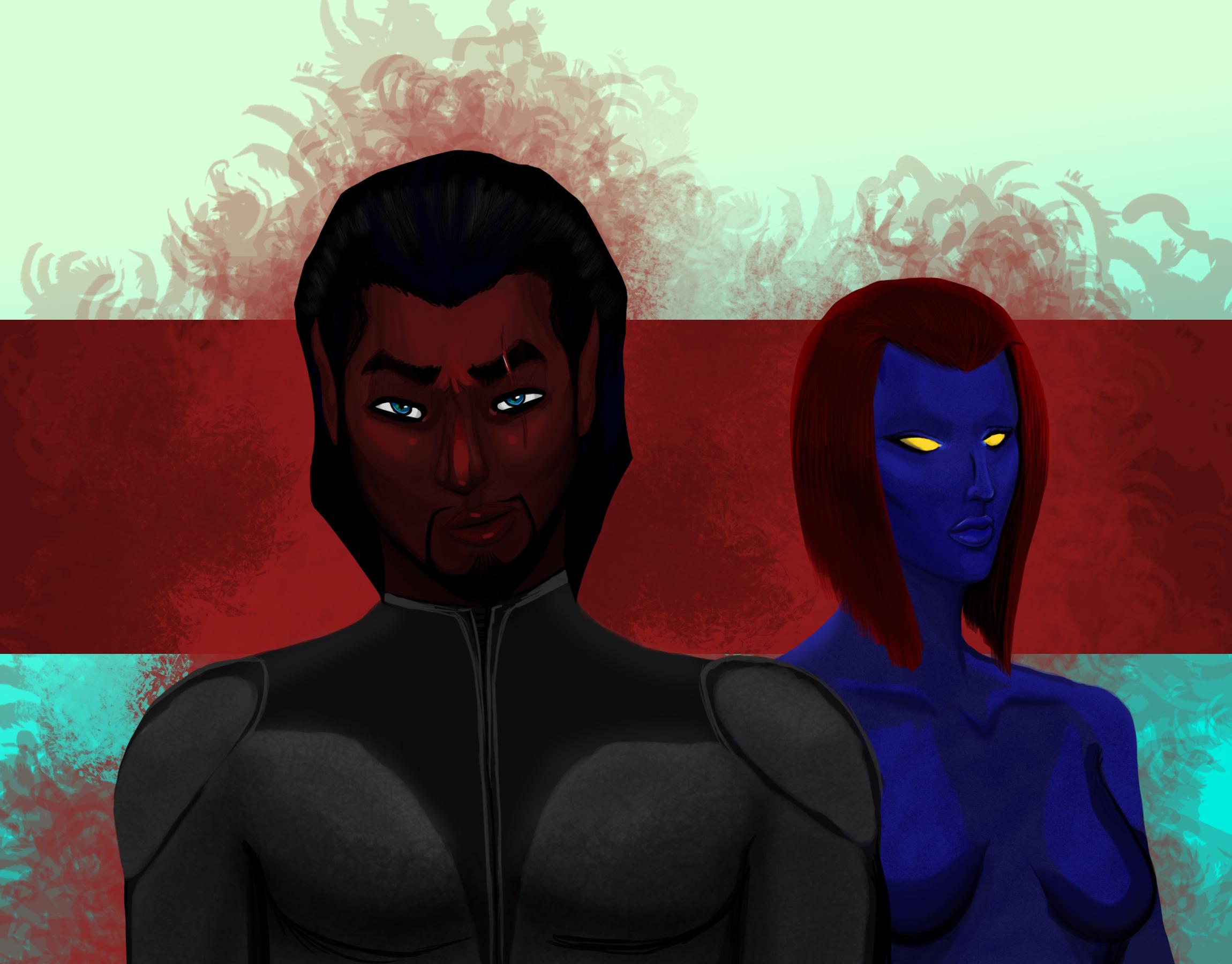 Azazel & Mystique