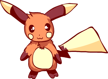 Pikachu-Raichu coloured