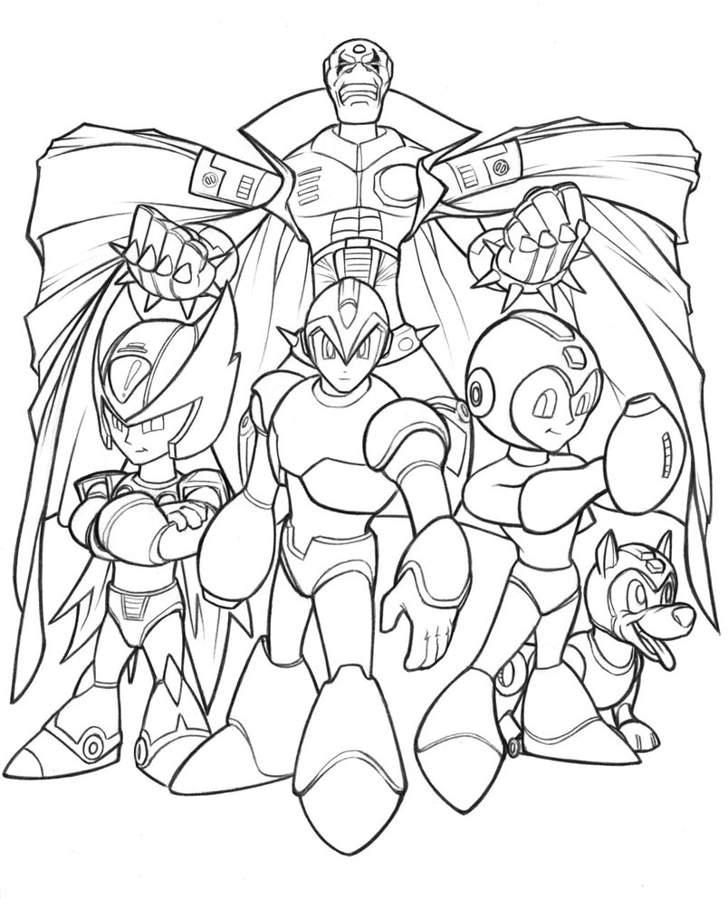 megaman characters