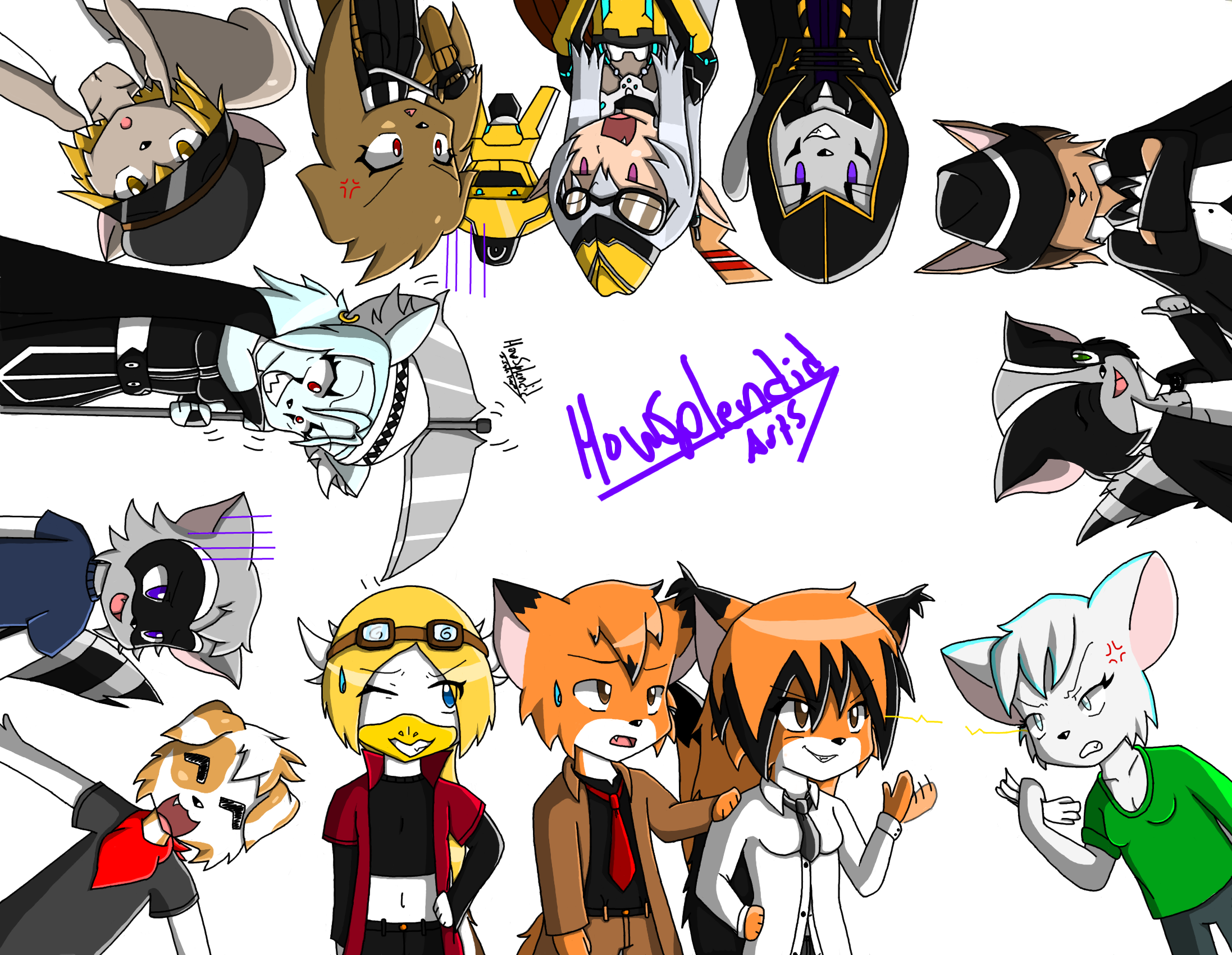 All my characters drawing