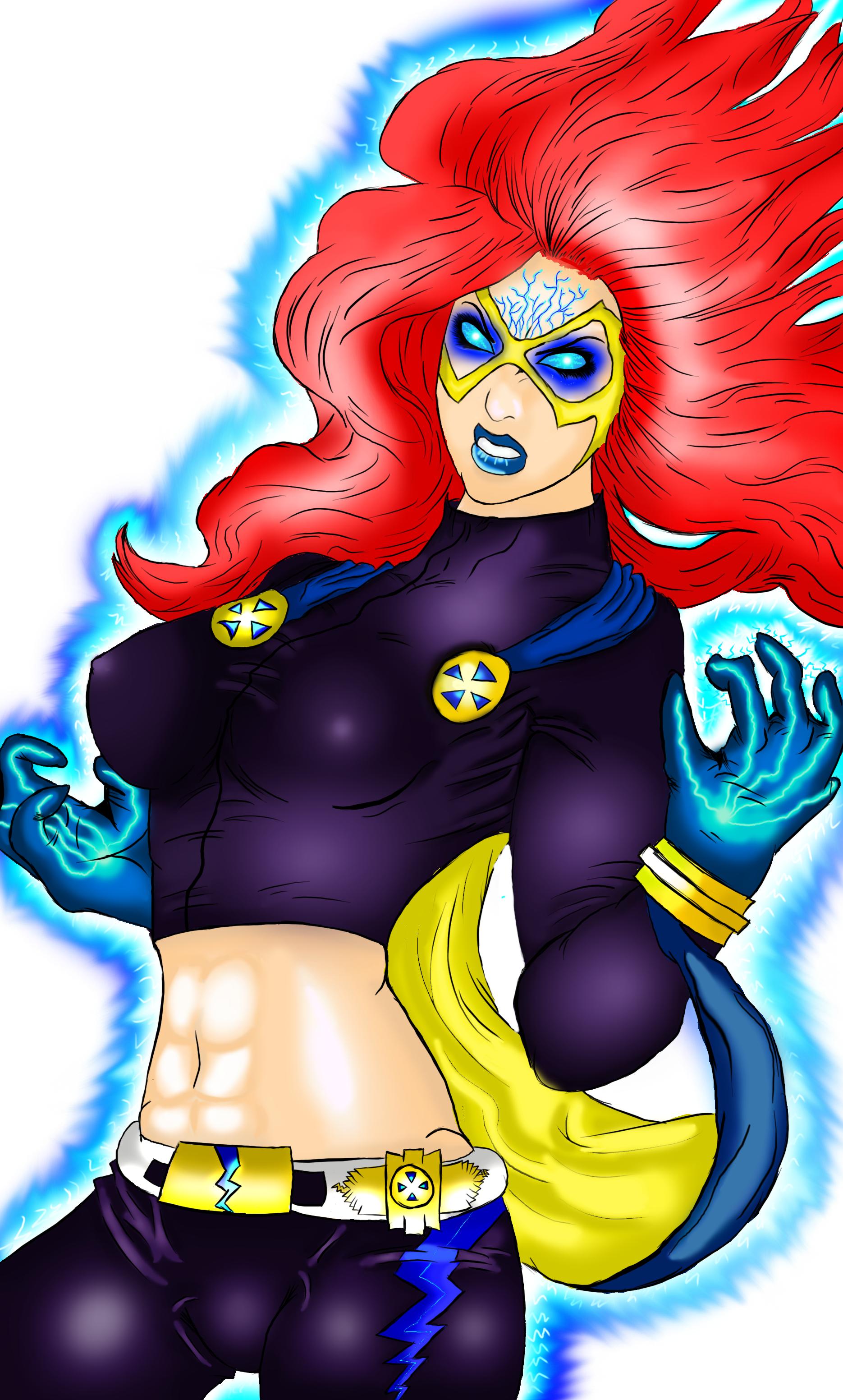 """comic art #2 """"Blue Thunder"""""""