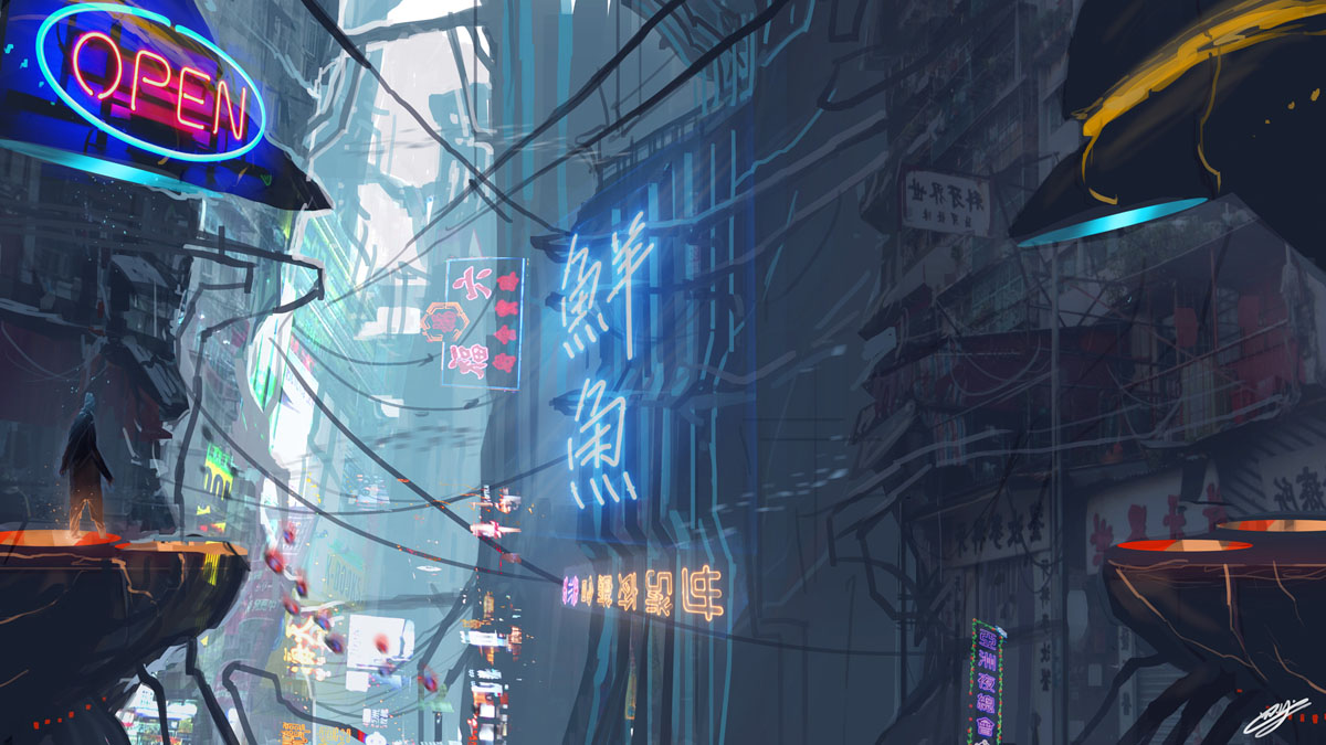 Cyberpunk City/The Chase