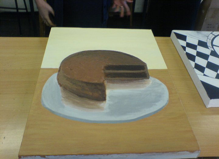 I Painted a cake!