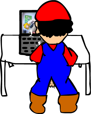 Mario watches porn